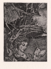 221. Sailer, lady, book. 112x80